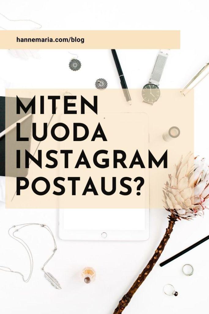 Miten luoda Instagram postaus